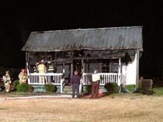 Fire ripped through a Smithfield home Saturday evening, officials said.