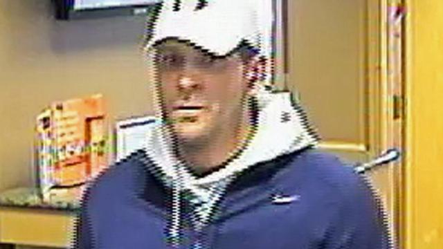 Police were searching for this man, who was captured on security video during a bank robbery of the PNC branch at 3619 Rogers Road in Wake Forest on Dec. 4, 2013.