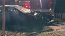 Nine people injured in two-car crash in Raleigh