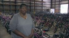 IMAGES: 'It's my passion now': Bicycle Man's widow continues holiday tradition