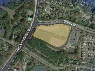 A developer plans to convert a plot of land at Falsl of Neuse and Dunn roads into a shopping center.