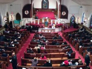 Hundreds visited Raleigh's First Bapist Church on Saturday, Dec. 14, 2013, to honor former South African President Nelson Mandela.