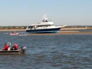 Several people were injured on Dec. 17, 2013, when the Bald Head Island Ferry ran aground near Southport. (Photo courtesy U.S. Coast Guard)