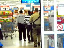Police responded to a Walmart in Aberdeen on Dec. 24, 2013, after an officer scuffled with a man with a gun inside the store. Photo courtesy of Billy Marts, aberdeentimes.com.