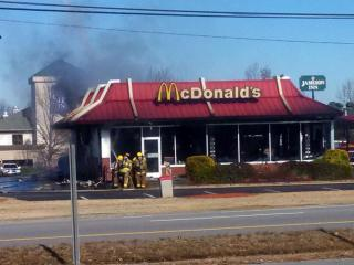 Viewers shared their photos when the Wilson McDonald's went up in smoke on Dec. 25, 2013.