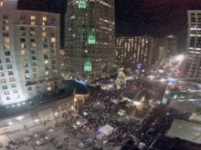 RAW: Drone flies over First Night festivities