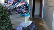 IMAGE: Frozen, burst pipes damage several Triangle apartments