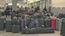 IMAGE: Deep freeze leaves behind sea of lost luggage at RDU