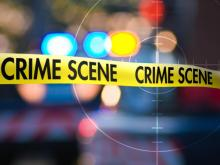 Shooting Night crime scene tape
