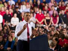 President Barack Obama announced on Wednesday that North Carolina State University will lead a group of six universities and 18 private-sector companies in a new manufacturing innovation institute during a speech at the school.