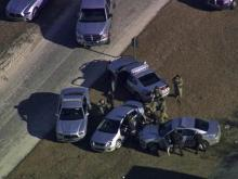 Sky 5 catches police chase, crash in Spring Lake
