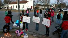 IMAGES: Dozens march for slain Rocky Mount teen