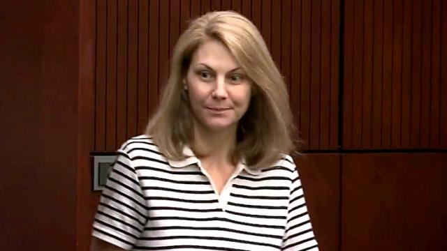 Amanda Hayes appears in a Wake County courtroom Jan. 21, 2014, the first day of her first-degree murder trial in the July 13, 2011, death of her husband's ex-girlfriend, Laura Ackerson.