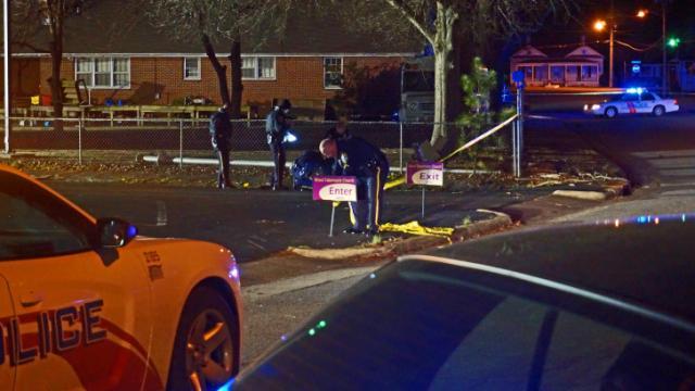 Four people were shot behind Word Tabernacle Church on Edwards Street in Rocky Mount on Jan. 27, 2014. (Zac Gooch/WRAL)