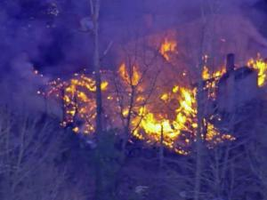 Sky5 shows the scene of a fire that destoryed a Carrboro home on Friday, Jan. 31, 2014.