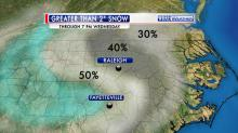 IMAGES: Flurries fly across the Triangle