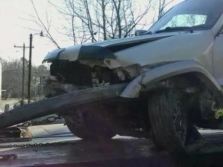 This guardrail sliced through Jay Traylor's vehicle, severing his right leg.