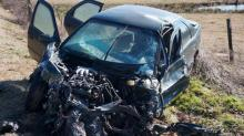 IMAGES: Two injured after tanker truck, car collide near Carthage
