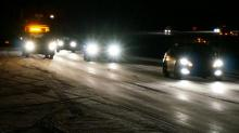 Icy roads on I-540