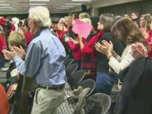 Web Exclusive - Wake school board approves resolution to repeal teacher contract law