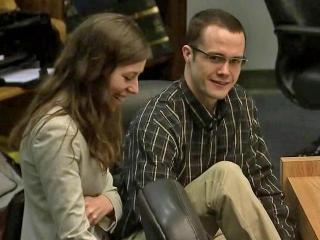 Jonathan Douglas Richardson smiles during a break in his capital murder trial on March 5, 2014, after a sheriff's deputy broke down testifying about the injuries to 4-year-old Teghan Skiba, whom prosecutors say Richardson tortured for 10 days in July 2010.