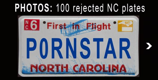 Sex Drugs Profanity Among Nc S Rejected License Plates Wral Com