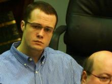 Jonathan Douglas Richardson listens to testimony on March 6, 2014, during his death penalty trial. He is charged with torturing, sexually assaulting and killing 4-year-old Teghan Skiba in July 2010.