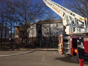Firefighters battled a blaze at Brookstone Apartments in Fayetteville Friday March 14, 2014.