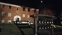 IMAGE: Eight jump to escape fire in Raleigh apartment building