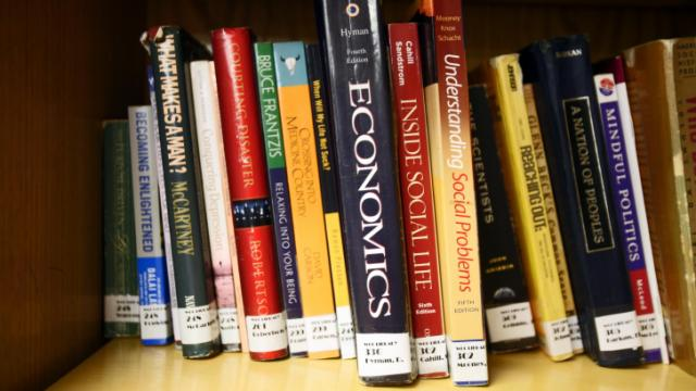 Books at Wake Correctional Center's library.