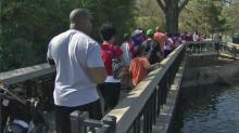 IMAGES: Walkers hope to raise awareness, reports of child abuse