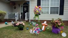 IMAGE: Memorials, Easter gathering honor slain Hope Mills teen