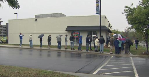 On Saturday, the seventh National Record Store Day, hundreds flocked to Raleigh's School Kids Records looking for a chance to buy something special. Some waited in line – outside, in the rain – overnight hoping for a chance to get their hands on limited edition albums for sale.