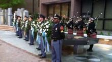IMAGES: Memorial honoring fallen Raleigh officers unveiled Friday
