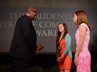 St. Mary's Sophomore Molly Pual receives the 'Spirit of Community' award on May 5, 2014 in Washington D.C. for her volunteering at the North Carolina Museum of Natural Science