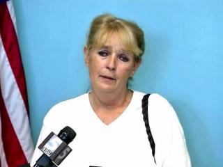 Cathy Starke answers reporters' questions May 7, 2014, at a news conference after Sampson County authorities announced an arrest in the eight-month homicide investigation of Startke's 11-year-old granddaughter McKenzie Sessoms.