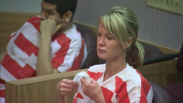 Jennifer Soronen sits in a Johnston County courtroom May 7, 2014, after being indicted on an embezzlement charge. Authorities say she used her Smithfield business, Baby Steps Egg Donation & Surrogacy Agency, to bilk money from couples seeking her services.