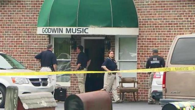 Federal agents raided Godwin Music offices in Selma on May 7, 2014.