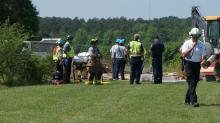 IMAGES: Man rescued from trench in Fayetteville