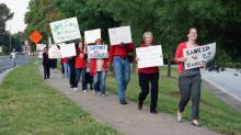 Teachers rally in Apex