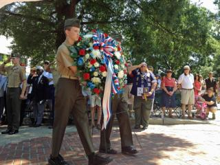 In Raleigh, hundreds also gathered at the state Capitol to pay their respects.