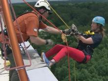 Elizabeth Gardner goes over the edge