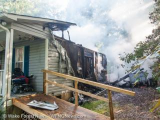 A Youngsville firefighter saved his friend from a house fire on Waiters Way. Photos used with permission.