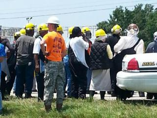 An ammonia leak forced hundreds of workers from the Smithfield Packing pork-processing plant in Bladen County on June 17, 2014, authorities said.