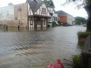 The town of Manteo posted this photo on social media of flooding downtown.