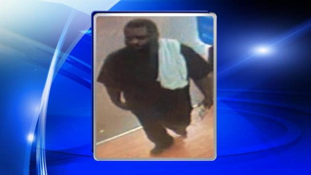 Garner police are looking for this man in connection with a robbery at a Walmart on Fayetteville Road on Monday.