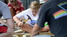 IMAGES: Teens work together to repair homes across Wake County