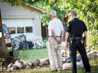 Police questioned Calvin Anderson Ray after man was found shot, dead on his porch. (Photo courtesy: Wake Forest News / WFNCNews.com)