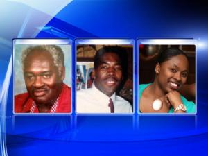 John Wesley Morrow, left, Jimmy Campbell and Laytosha McNair were killed in a July 16, 2014, crash on Murchison Road in Fayetteville.