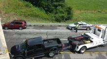 IMAGES: Six vehicle wreck closes I-95 N near Rocky Mount
